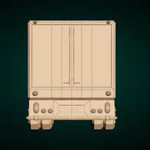 Low-Poly Cartoon Lorry Truck image 10