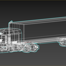 Low-Poly Cartoon Lorry Truck image 12