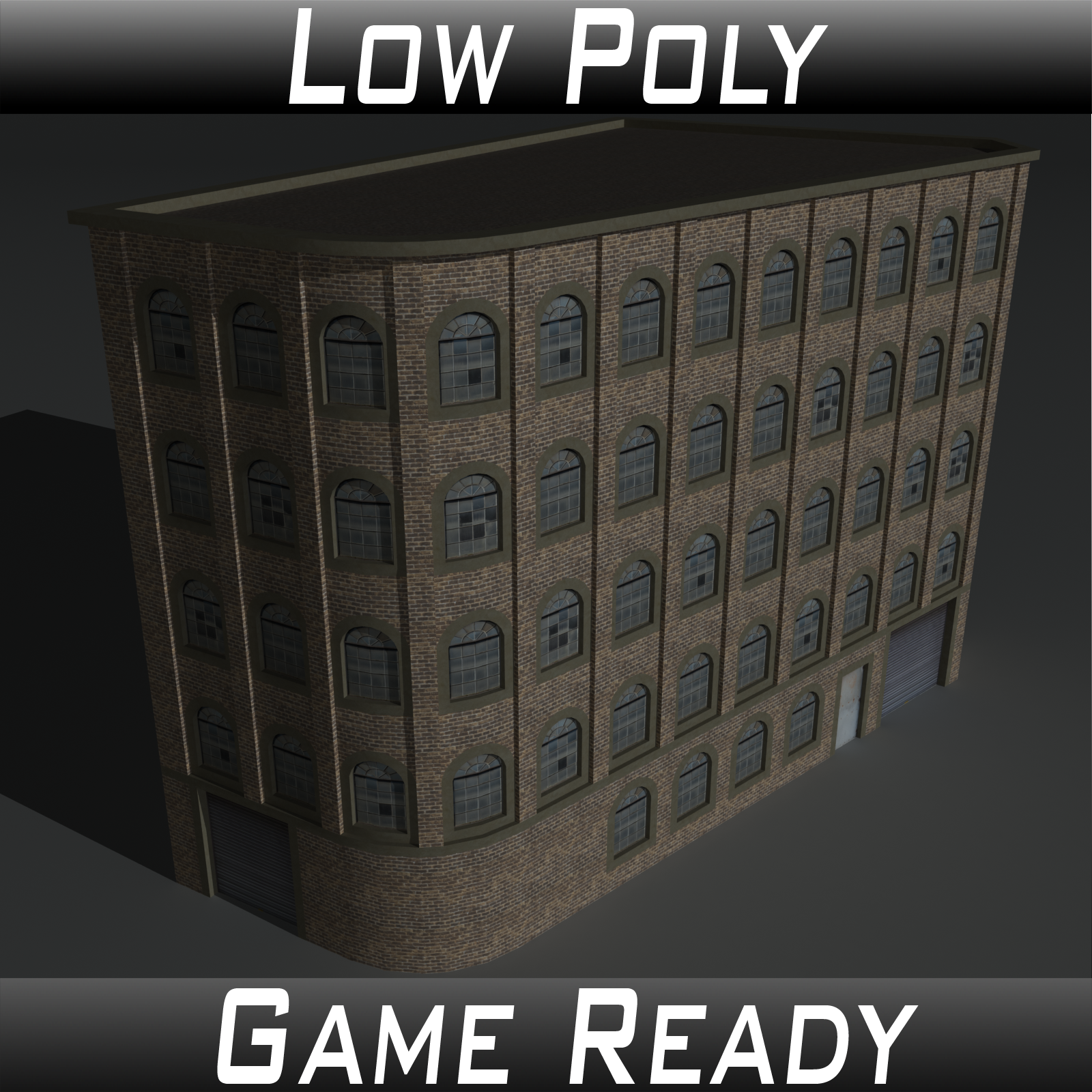 Low Poly Factory Building 5 - Extended Licence