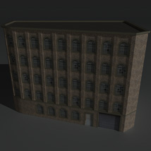 Low Poly Factory Building 5 - Extended Licence image 1