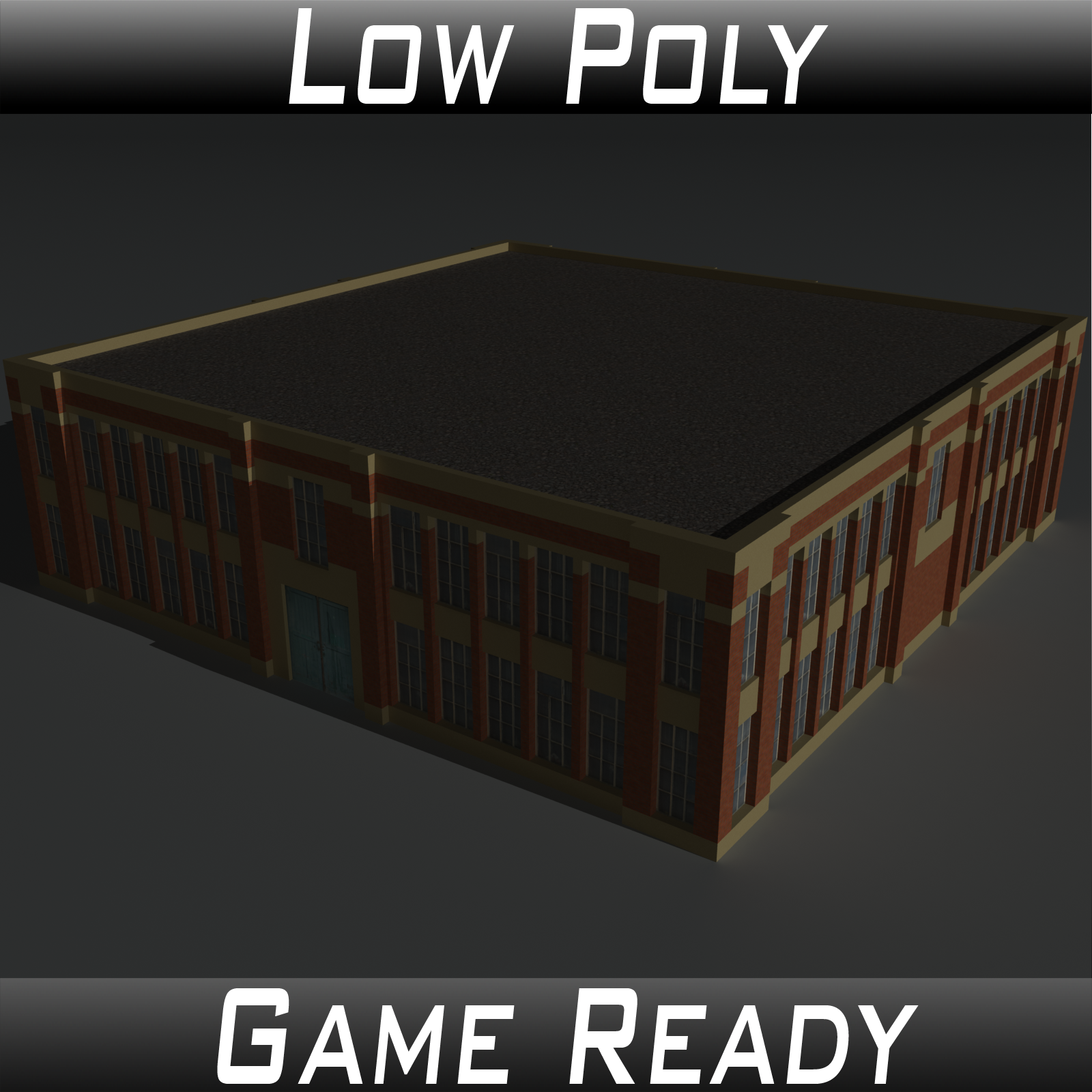 Low Poly Factory Building 6 - Extended Licence
