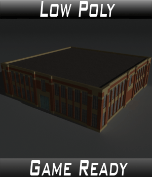 Low Poly Factory Building 6 - Extended Licence 3D Models Extended Licenses 3dlands