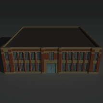 Low Poly Factory Building 6 - Extended Licence image 1