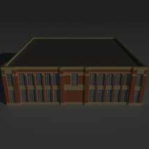 Low Poly Factory Building 6 - Extended Licence image 3
