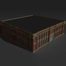 Low Poly Factory Building 6 - Extended Licence image 4
