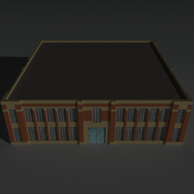 Low Poly Factory Building 6 - Extended Licence image 5