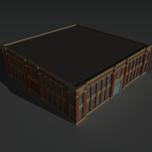 Low Poly Factory Building 6 - Extended Licence image 8