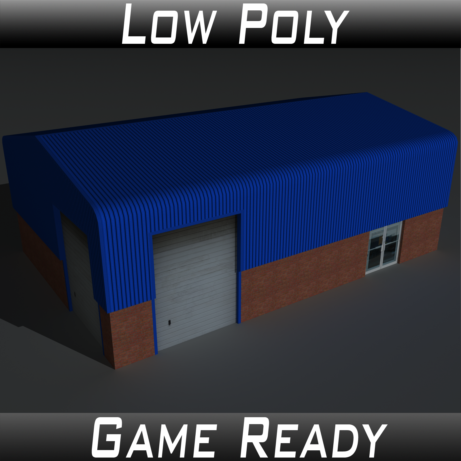 Low Poly Factory Building 7 - Extended Licence by 3dlands