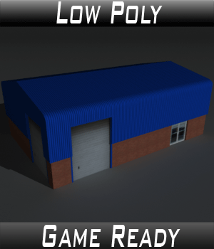 Low Poly Factory Building 7 - Extended Licence