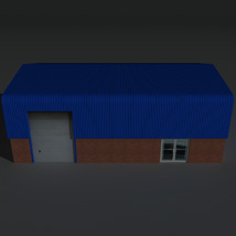 Low Poly Factory Building 7 - Extended Licence image 1