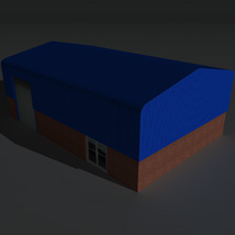 Low Poly Factory Building 7 - Extended Licence image 2