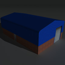 Low Poly Factory Building 7 - Extended Licence image 6