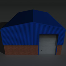 Low Poly Factory Building 7 - Extended Licence image 7