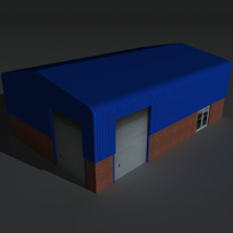 Low Poly Factory Building 7 - Extended Licence image 8