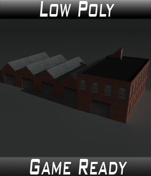 Low Poly Factory Building 8 - Extended Licence 3D Models Extended Licenses 3dlands