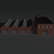 Low Poly Factory Building 8 - Extended Licence image 1