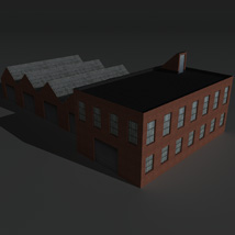 Low Poly Factory Building 8 - Extended Licence image 2
