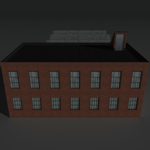 Low Poly Factory Building 8 - Extended Licence image 3
