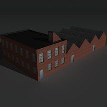 Low Poly Factory Building 8 - Extended Licence image 4