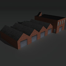Low Poly Factory Building 8 - Extended Licence image 8