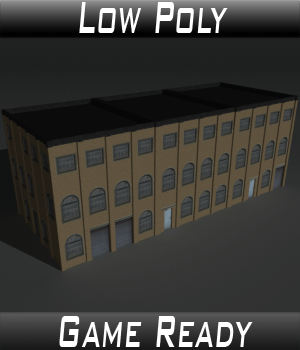 Low Poly Factory Building 9 - Extended Licence 3D Models Extended Licenses 3dlands