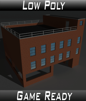 Low Poly Factory Building 10 - Extended Licence 3D Models Extended Licenses 3dlands