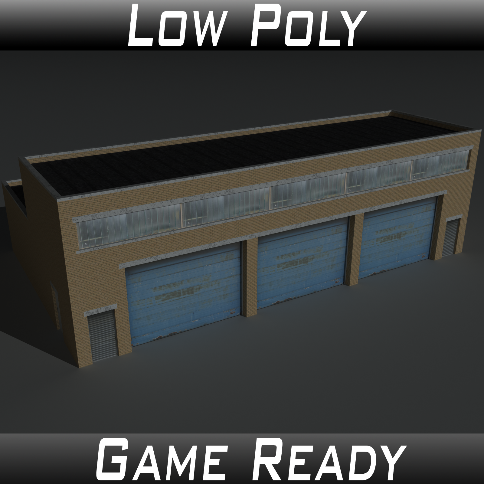 Low Poly Factory Building 11 - Extended Licence by 3dlands
