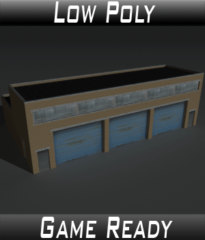 Low Poly Factory Building 11 - Extended Licence 3D Models Extended Licenses 3dlands