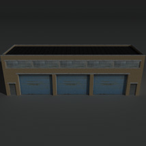 Low Poly Factory Building 11 - Extended Licence image 1