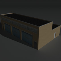 Low Poly Factory Building 11 - Extended Licence image 2