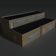 Low Poly Factory Building 11 - Extended Licence image 4