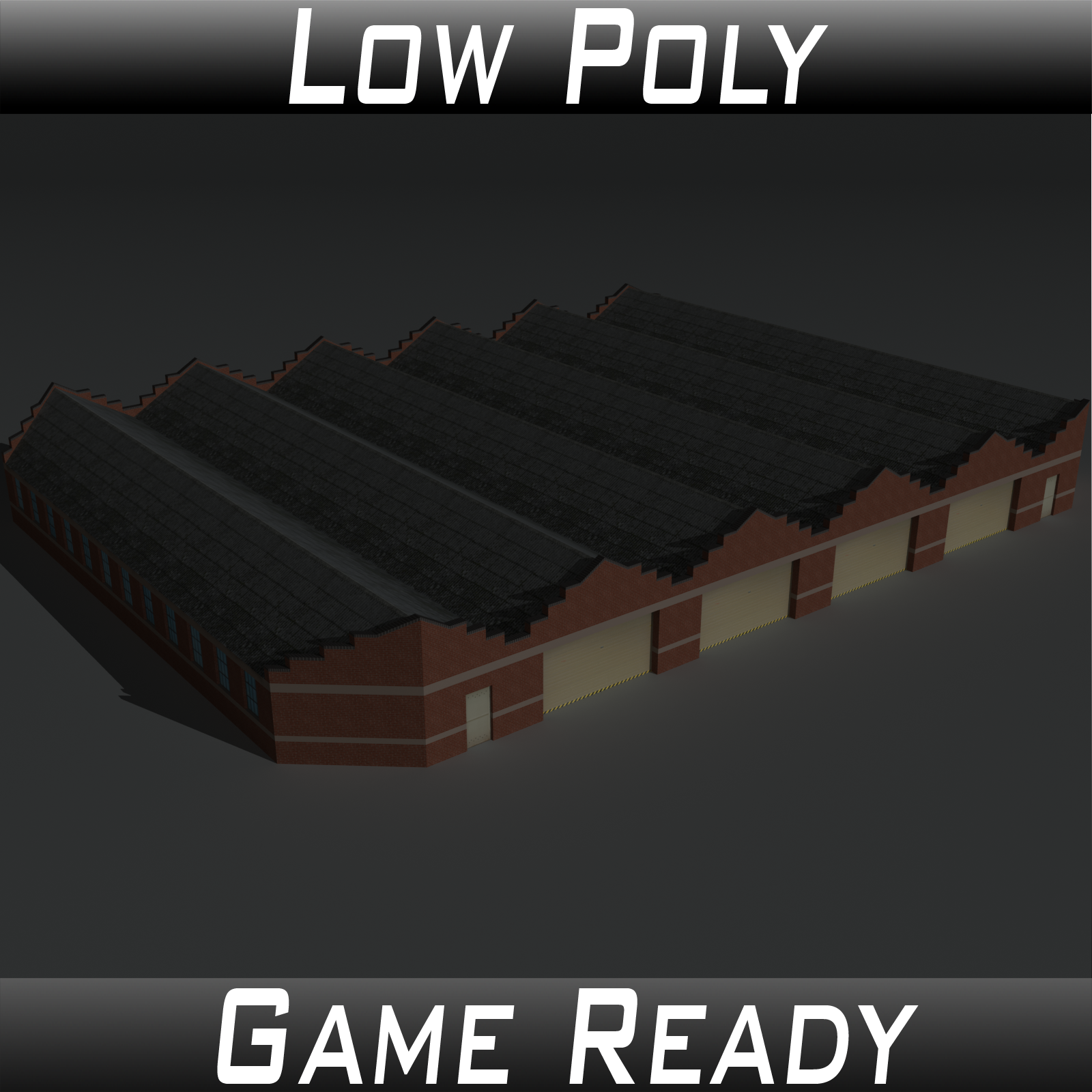 Low Poly Factory Building 12 - Extended Licence by 3dlands