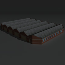 Low Poly Factory Building 12 - Extended Licence image 2