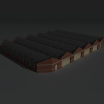 Low Poly Factory Building 12 - Extended Licence image 4