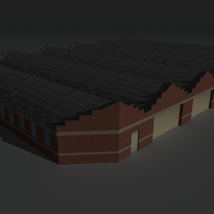 Low Poly Factory Building 12 - Extended Licence image 5