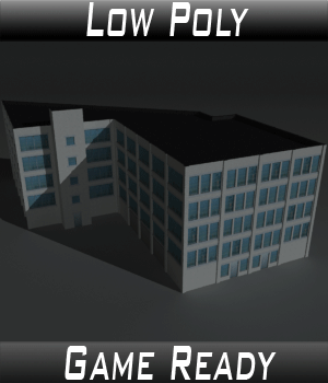 Low Poly Factory Building 13 - Extended Licence 3D Models Extended Licenses 3dlands
