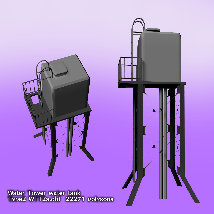 Water Tower water tank (OBJ) extended license By x7 image 2