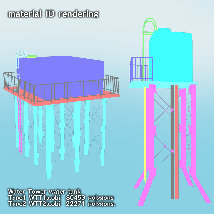 Water Tower water tank (OBJ) extended license By x7 image 3