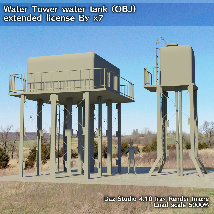 Water Tower water tank (OBJ) extended license By x7 image 4