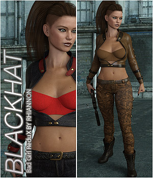 BLACKHAT - Bad Girl ReduX 3D Figure Assets Anagord