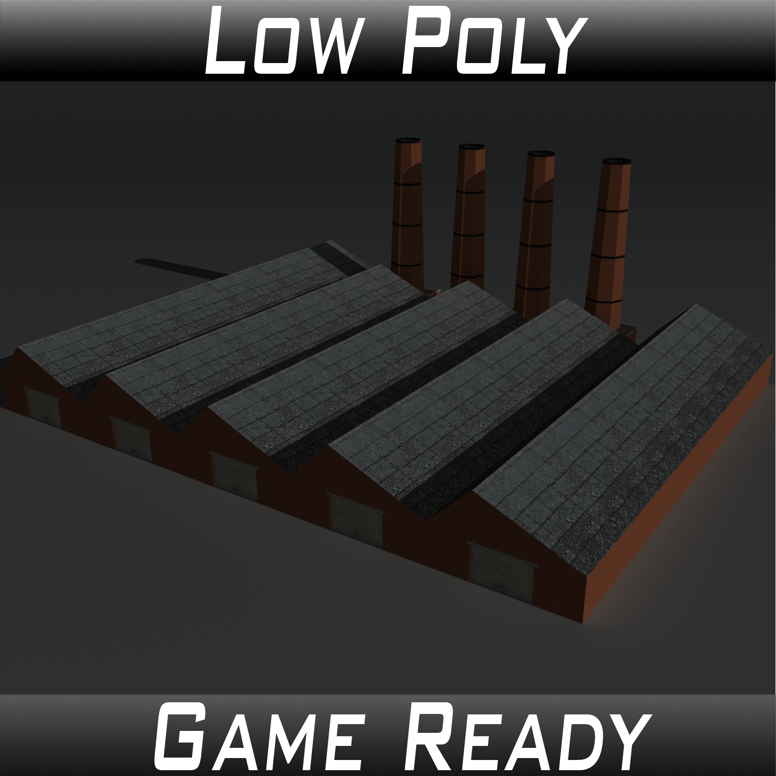 Low Poly Factory Building 14 - Extended Licence by 3dlands