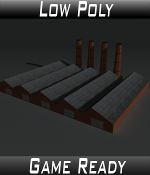 Low Poly Factory Building 14 - Extended Licence 3D Models Extended Licenses 3dlands