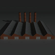 Low Poly Factory Building 14 - Extended Licence image 1