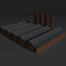 Low Poly Factory Building 14 - Extended Licence image 2