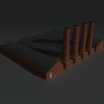 Low Poly Factory Building 14 - Extended Licence image 4
