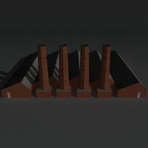 Low Poly Factory Building 14 - Extended Licence image 5