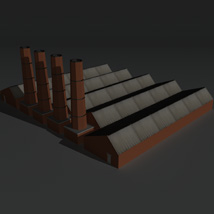 Low Poly Factory Building 14 - Extended Licence image 6