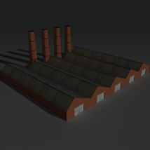Low Poly Factory Building 14 - Extended Licence image 8