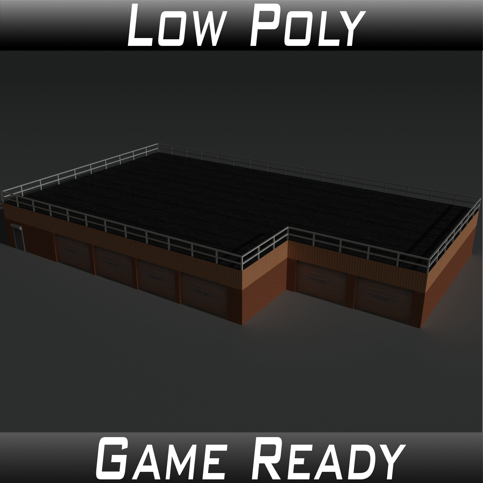 Low Poly Factory Building 15 - Extended Licence