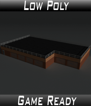 Low Poly Factory Building 15 - Extended Licence 3D Models Extended Licenses 3dlands